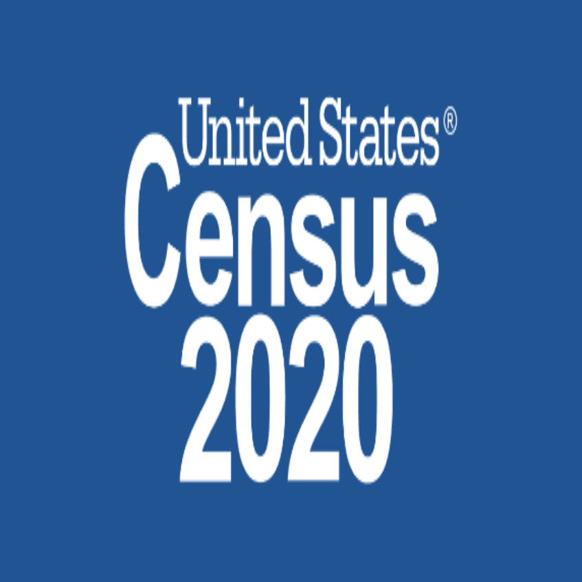 2020 Census Logo blue