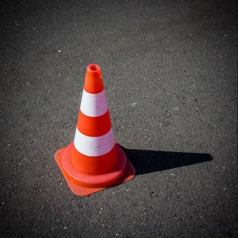 Road construction - traffic cone
